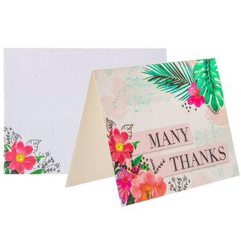 Tropical Many Thanks Cards