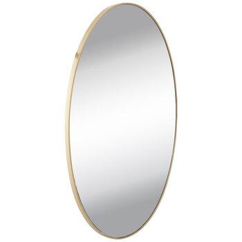 Gold Matte Oval Metal Wall Mirror