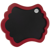 Red Ornate Chalkboard