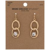 Chain Link Rhinestone Earrings
