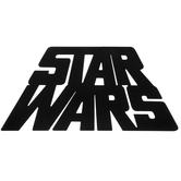 Black Star Wars Classic Logo Metal Sign