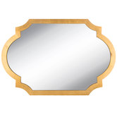 Gold Quatrefoil Wood Wall Mirror