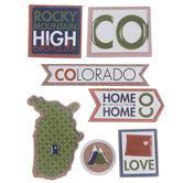 Colorado Icons 3D Stickers