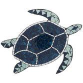 Blue Mosaic Turtle Wall Decor