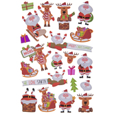Santa & Reindeer Stickers