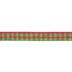 Red & Green Plaid Ribbon - 5/8