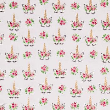 Flower Crown Unicorn Apparel Fabric