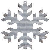 Galvanized Snowflake Ornament