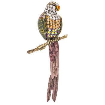 Parrot Rhinestone Brooch