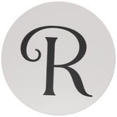 White & Black Letter Coasters - R