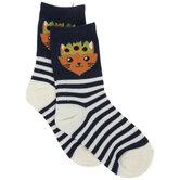 Cat Striped Kids Crew Socks