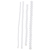 Matte White Faceted Glass Bead Strands