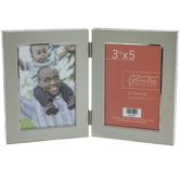 "Nickel Hinged Metal Collage Frame - 3 1/2"" x 5"""