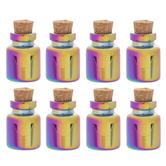 Iridescent Glass Bottle Embellishments