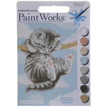 Hang On Kitty Paint By Number Kit
