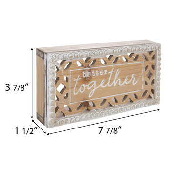 Better Together Beaded Wood Decor