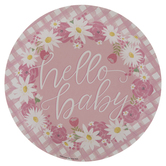 Hello Baby Paper Plates - Large