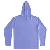 Flo Blue Adult Long Sleeve Hooded Ring Spun T-Shirt - Extra Large