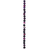 Purple Dyed Round Agate Bead Strand