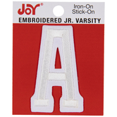 "White Junior Varsity Letter Iron-On Applique A - 2"""