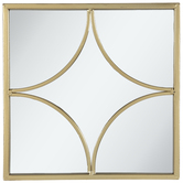 Gold Geometric Metal Wall Mirror