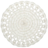 Ivory Round Crochet Placemat