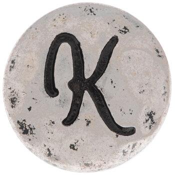Hammered Letter Mini Snap Charm - K
