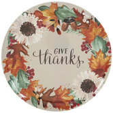 Give Thanks Fall Wreath Platter