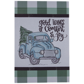 Good Tidings Truck Garden Flag