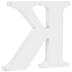 White Wood Letter K - 3