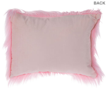 Bright Pink Faux Fur Pillow