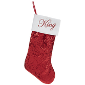Red King Sequin Stocking