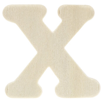 """Wood Letters X - 1 3/4"""""""