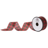 Red, Black & Yellow Plaid Ribbon - 1 1/2""
