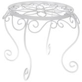 White Swirl Metal Plant Stand