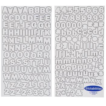 White Franklin Gothic Alphabet Stickers