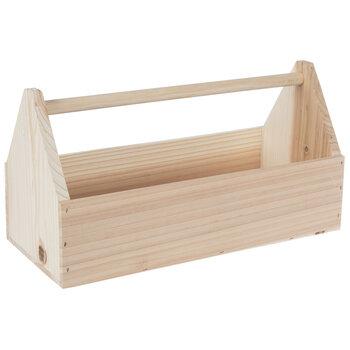 Rectangle Wood Box With Handle