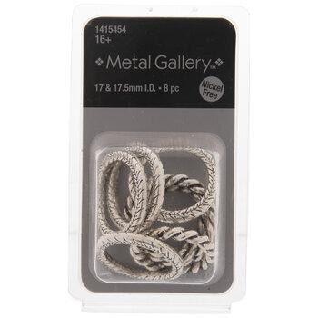 Textured Metal Rings - 17mm - 17.5mm