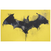 Batman Logo Watercolor Canvas Wall Decor
