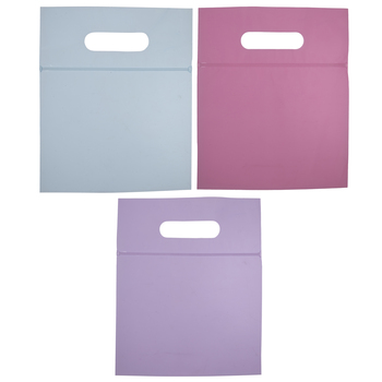 Tinted Pastel Zipper Bags With Handles