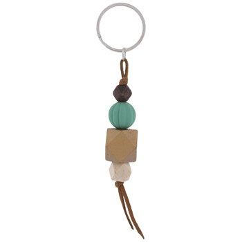Bead Stacked Key Ring