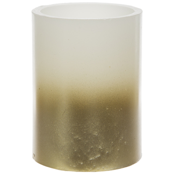 Gold Ombre LED Pillar Candle