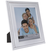 "White Beaded Wood Wall Frame - 8"" x 10"""