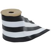 "Black & White Striped Wired Edge Ribbon - 4"""