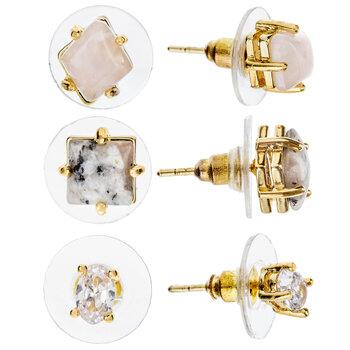 Stone & Rhinestone Earrings