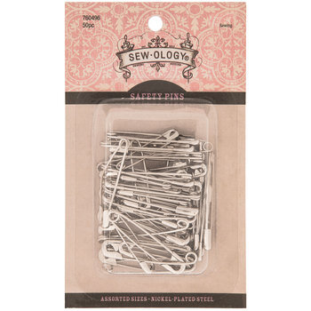 Nickel Safety Pins - Size 1 & 2