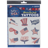 USA Glow-In-The-Dark Temporary Tattoos