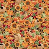Floral Harvest Cotton Fabric