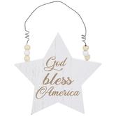 God Bless America Star Ornament