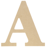"""Wood Letter A - 9 1/2"""""""